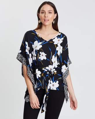 Dorothy Perkins 3/4 Sleeve Kimono Tie Waist Top