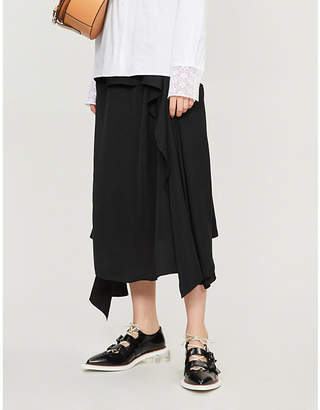J.W.Anderson Draped-panel asymmetric woven midi skirt