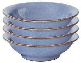 Denby Set of Four Heritage Fountain Small Shallow Bowls
