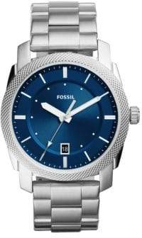 Fossil Analog Casual Machine Stainless Steel Bracelet Watch