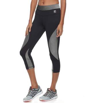 Fila Sport Women's SPORT Ribbed Panel Capri Leggings