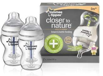 Tommee Tippee Closer to Nature 260 ml/9fl oz Anti-Colic Plus Feeding Bottles (2-pack) by