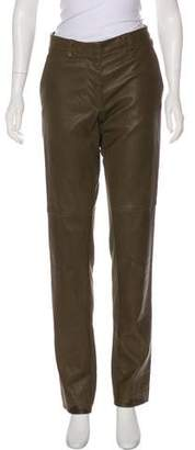 Maison Margiela Mid-Rise Leather Pants