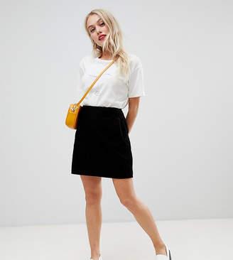 New Look Petite cord pocket skirt in black