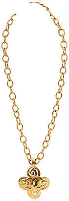 One Kings Lane Vintage Chanel Extra-Long Clover Necklace - Vintage Lux