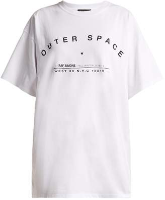 Raf Simons Outer Space-print cotton T-shirt