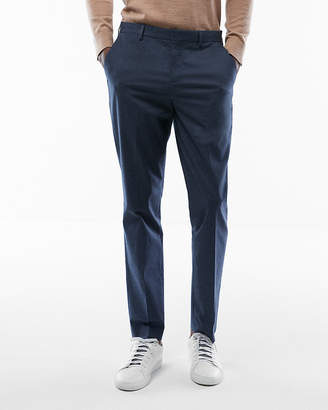 Express Extra Slim Cotton Twill Dress Pant
