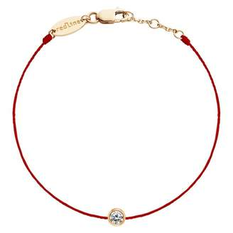 Redline 18ct Rose Gold And Diamond Pure Red Thread Bracelet