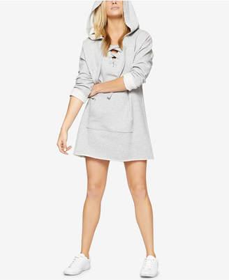 Sanctuary Cotton Lace-Up Sweatshirt Tunic