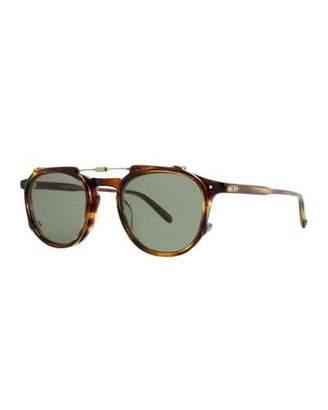 Garrett Leight Hampton Square Acetate Sunglasses, Chestnut $390 thestylecure.com