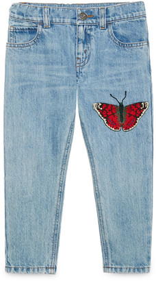 Children's denim pant with butterfly $330 thestylecure.com