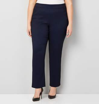 585e57a6a Avenue Plus Size Jacquard Print Super Stretch Pull-On Pant