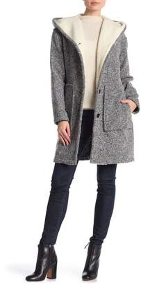 Lucky Brand Faux Shearling Lined Hooded Coat