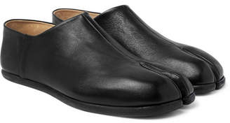 Maison Margiela Tabi Collapsible-Heel Split-Toe Leather Loafers - Black