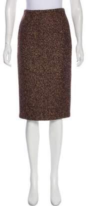 Michael Kors Wool-Blend Skirt Brown Wool-Blend Skirt