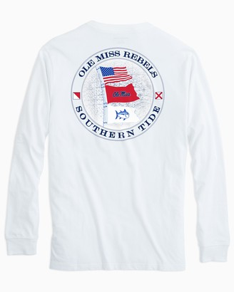 Southern Tide Gameday Nautical Flags Long Sleeve T-shirt - University of Mississippi