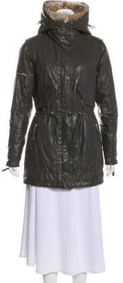 SAM. Fur-Trimmed Knee-Length Coat