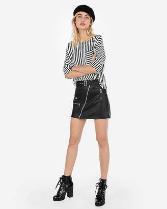 Express Stripe One Pocket Cocoon Top