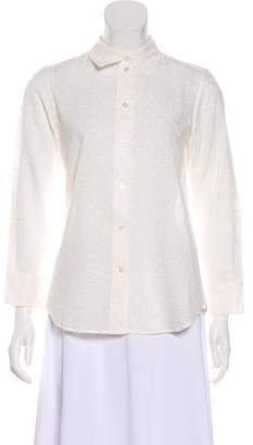 Marc Jacobs Eyelet-Accented Button-Up Top
