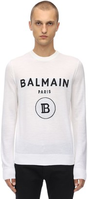 Balmain Virgin Wool Knit Sailor Sweater