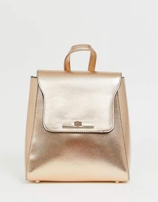New Look metallic backpack