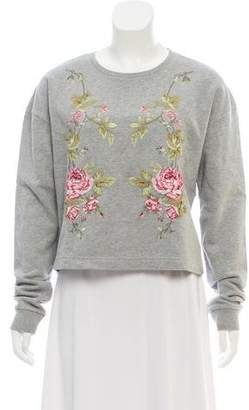 Alexander McQueen Floral Embroidered Sweatshirt w/ Tags
