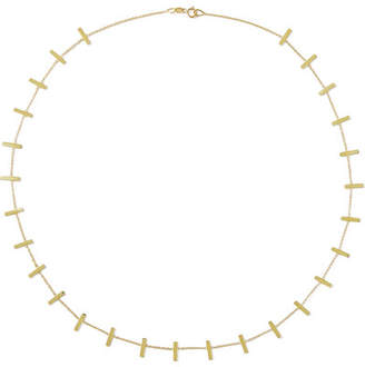 Jennifer Meyer Cross Bar 18-karat Gold Necklace