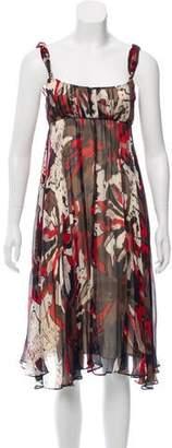Diane von Furstenberg Silk Abstract Print Dress w/ Tags
