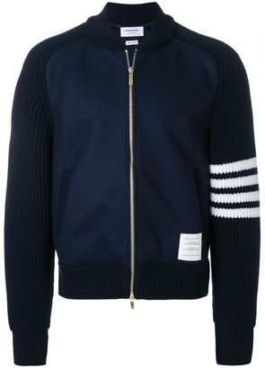 Thom Browne Chunky Saddle Sleeve Cashmere Wool Bomber