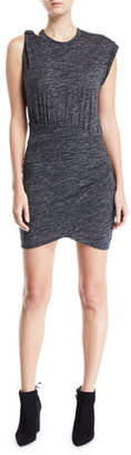 IRO Plush Gathered Crewneck Short Dress