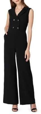 Tahari Arthur S. Levine Petite Button-Front Jumpsuit