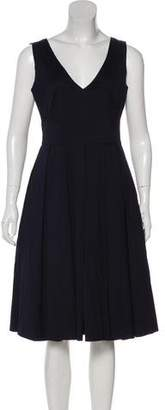 Prada Scoop Pleated Dress