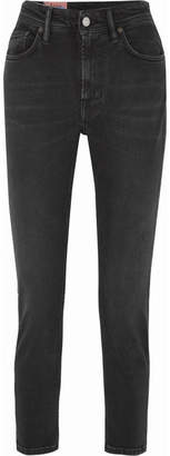 Acne Studios Melk High-rise Tapered Jeans - Black