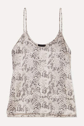 ATM Anthony Thomas Melillo Snake-print Silk-charmeuse Camisole - Gray