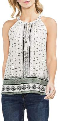 Vince Camuto Halter Style Print Top