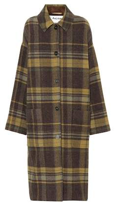 Acne Studios Plaid wool-blend coat