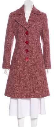 Cinzia Rocca Wool Tweed Knee-Length Coat