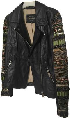 River Island Black Leather Leather Jacket for Women