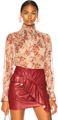 Zimmermann Unbridled Tie Neck Blouse