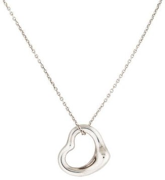 Tiffany & Co. Open Heart Pendant Necklace $145 thestylecure.com