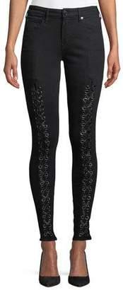 True Religion Jennie Curvy Mid-Rise Lace-Up Jeans