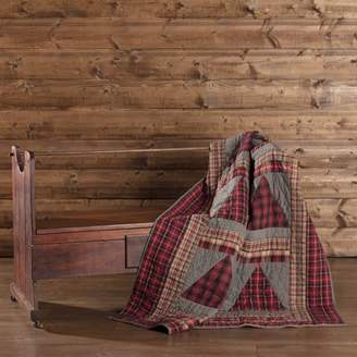 Ashton & Willow Chili Pepper Red Rustic Christmas Decor Andes Rod Pocket Cotton Hand Quilted Patchwork Chambray Throw