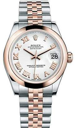 Rolex Datejust Steel and Rose Gold Silver Stick Dial 31mm Watch
