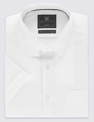 Marks and Spencer Short Sleeve Non-Iron Twill Regular Fit Shirt