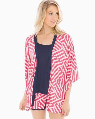 Cool Nights Pajama Wrap Flag Stripe Rouge