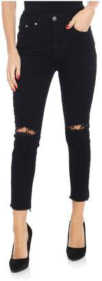 One Teaspoon Distressed Tapered Jeans