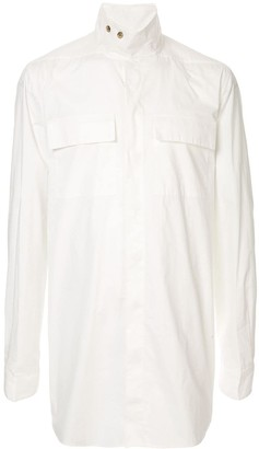 Rick Owens button mock collar shirt