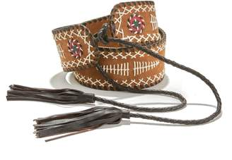 La Redoute COLLECTIONS Embroidered Leather Belt