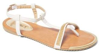 Gold Toe Victoria K Women Rhinestone On Strap With Sandals