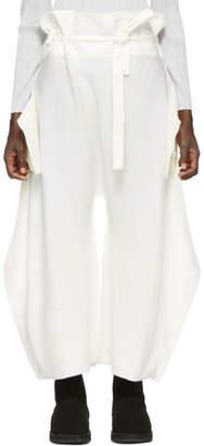 Issey Miyake White Knit Trousers